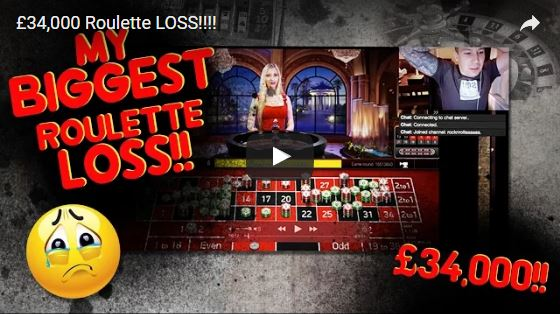 huge loss on live roulette